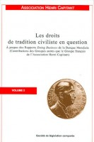 "Réponse de l'Association Henri Capitant aux Rapports ""Doing business"" de la Banque Mondiale - Les droits de tradition civiliste en question, volume 2"